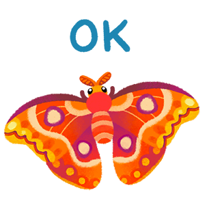 Moth and Beetle messages sticker-4