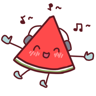 Shy watermelon messages sticker-6