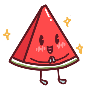 Shy watermelon messages sticker-7