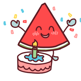 Shy watermelon messages sticker-3