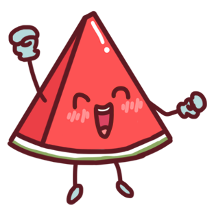 Shy watermelon messages sticker-4