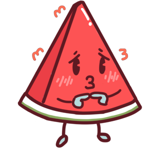 Shy watermelon messages sticker-1