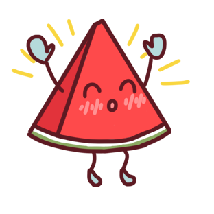 Shy watermelon messages sticker-9