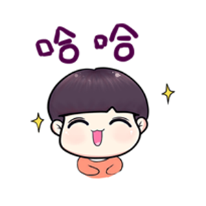 粉海晏小男孩 messages sticker-1