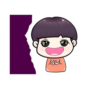 粉海晏小男孩 messages sticker-11