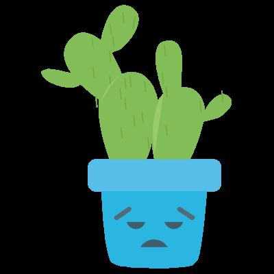 Cute Cactuss messages sticker-3