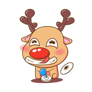 Merry Christmas Elk messages sticker-3