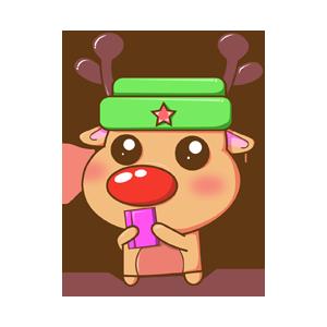 Merry Christmas Elk messages sticker-4
