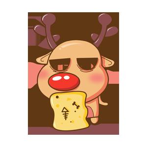 Merry Christmas Elk messages sticker-5