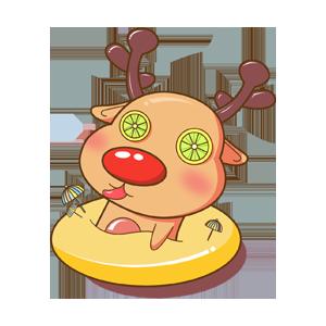 Merry Christmas Elk messages sticker-11