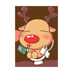 Merry Christmas Elk messages sticker-1