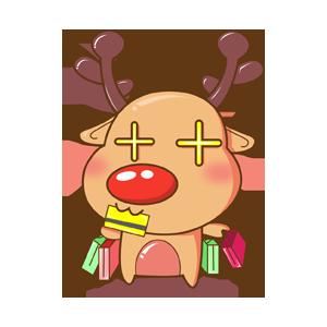 Merry Christmas Elk messages sticker-10