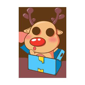 Merry Christmas Elk messages sticker-8