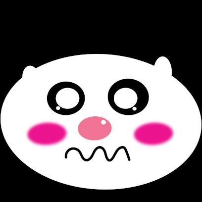 Panda mascot messages sticker-11