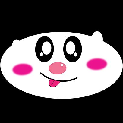 Panda mascot messages sticker-4