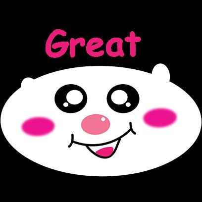 Panda mascot messages sticker-5