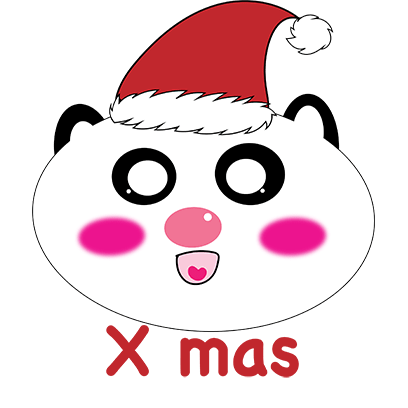 Panda mascot messages sticker-7