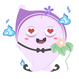 Shy Ghost messages sticker-3
