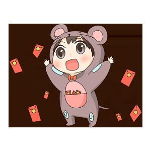 小鼠宝 messages sticker-1
