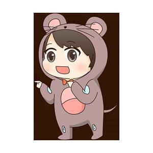 小鼠宝 messages sticker-9