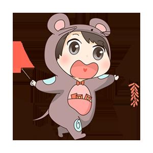 小鼠宝 messages sticker-0