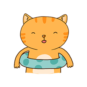 Orange Cat-Summer messages sticker-1