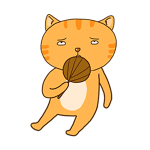 Orange Cat-Summer messages sticker-10