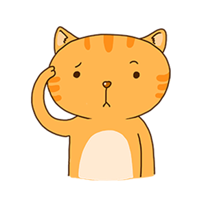 Orange Cat-Summer messages sticker-6