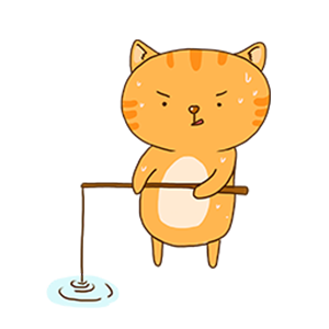 Orange Cat-Summer messages sticker-8
