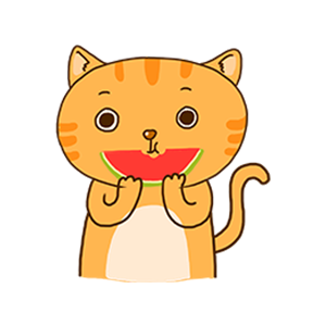 Orange Cat-Summer messages sticker-4