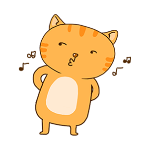 Orange Cat-Summer messages sticker-2