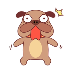 小棕狗 messages sticker-3