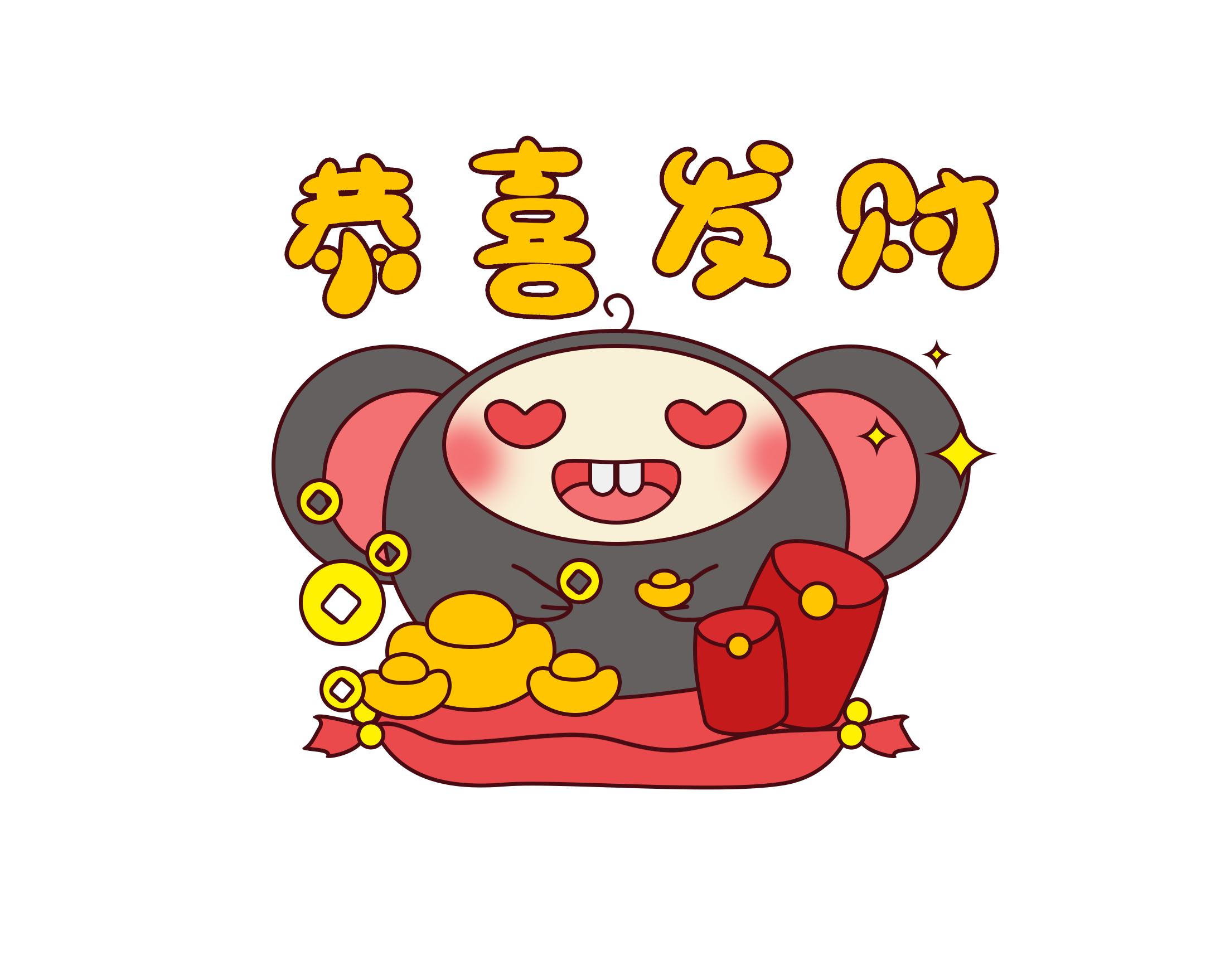 小福鼠好运连年 messages sticker-5
