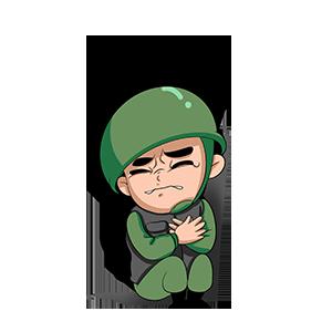 绿绿小士兵 messages sticker-0