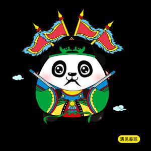 可爱的熊猫鼓鼓 messages sticker-8
