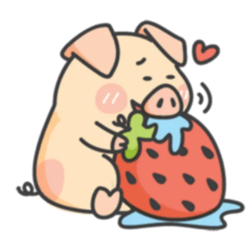 Piggy Duby&Frog Bady -Stickers messages sticker-9