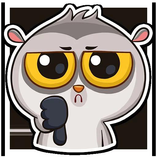 Lemur Cooper Stickers messages sticker-2