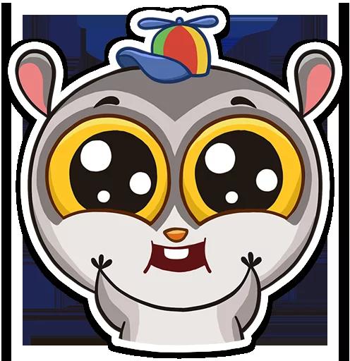 Lemur Cooper Stickers messages sticker-10