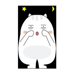 可爱憨憨喵 messages sticker-8