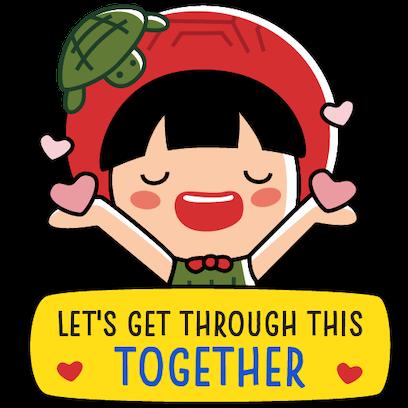 Ang Ku Kueh Girl - Fighting messages sticker-6