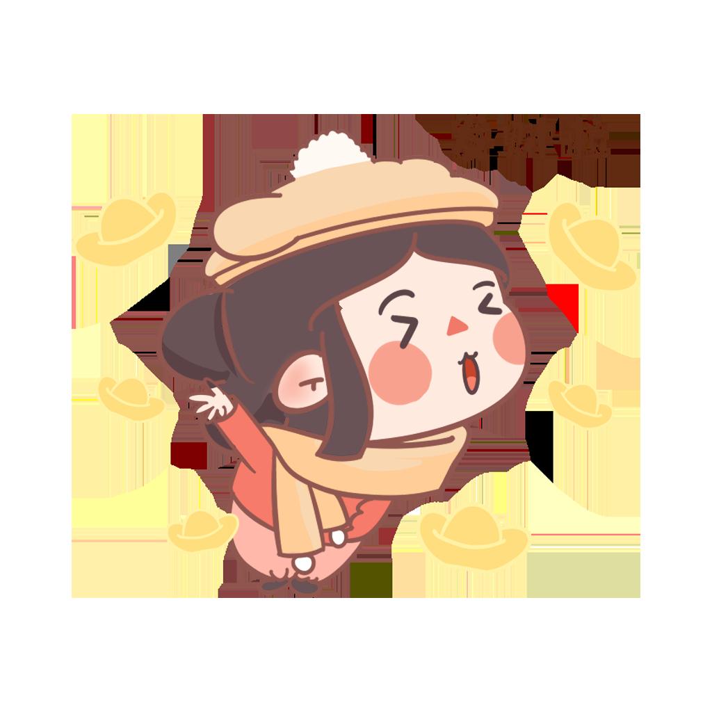 闹元宵-元元小妹 messages sticker-2