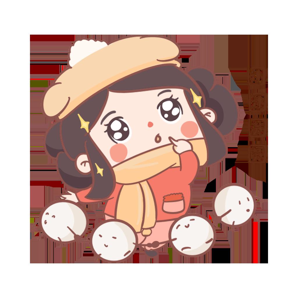 闹元宵-元元小妹 messages sticker-9