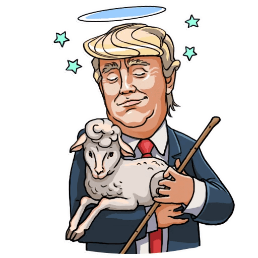 Donald Trump Stickers Pack messages sticker-9