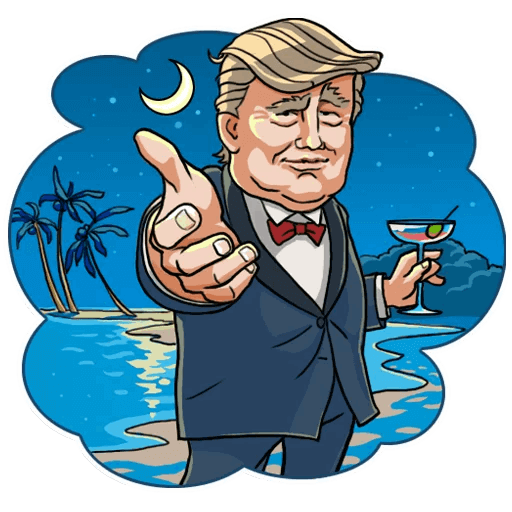 Donald Trump Stickers Pack messages sticker-10