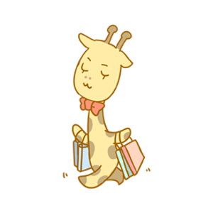 Here comes the giraffe messages sticker-7