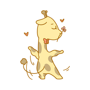 Here comes the giraffe messages sticker-11