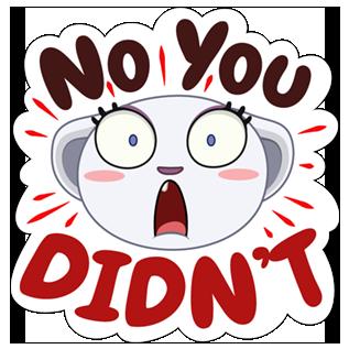 Be Cynical Sticker messages sticker-5