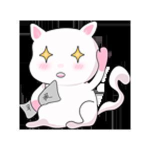 LittleWhiteCat messages sticker-4