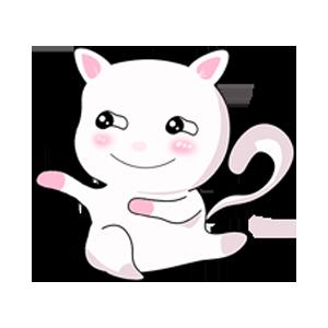 LittleWhiteCat messages sticker-7