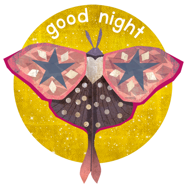 Midnight Moth Bedtime Stickers messages sticker-2